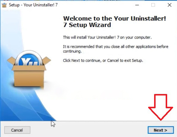 Bước 1 hướng dẫn cài đặt phần mềm Your Uninstaller Full Crack