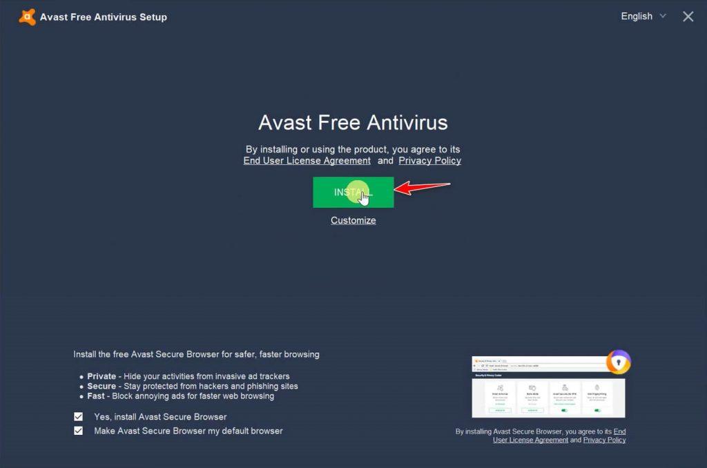 hướng dẫn cài đặt avast free antivirus