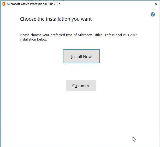 Hướng dẫn cài đặt Microsoft Office 2016