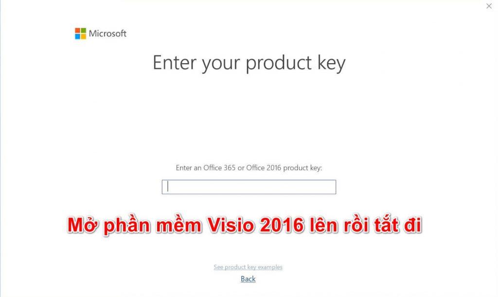 Hướng dẫn cài đặt key Visio 2016