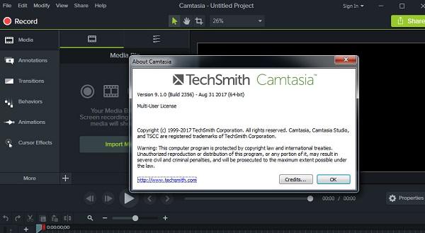 Hướng dẫn kích hoạt Key Camtasia 9