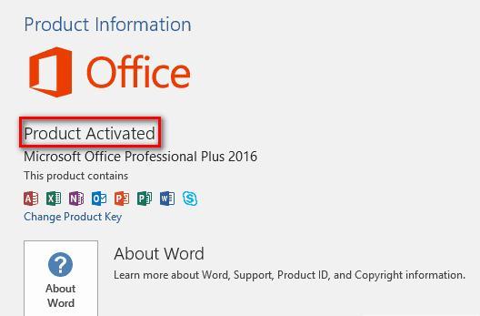 Hướng dẫn nhập Key Office 2016