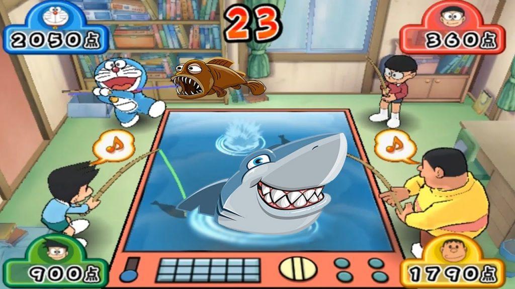 Game Doremon cùng Nobita tham gia hội thi câu cá