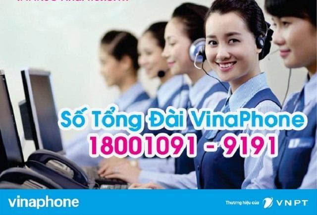 Tổng đài tư vấn cho khách hàng sử dụng sim Vinaphone trong nước