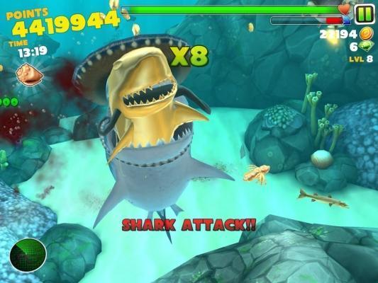 Hungry shark hack - game phiêu lưu đại dương bí ẩn, hấp dẫn