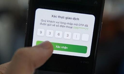 Nhập mã OTP là có thể hoàn thành giao dịch nạp tiền